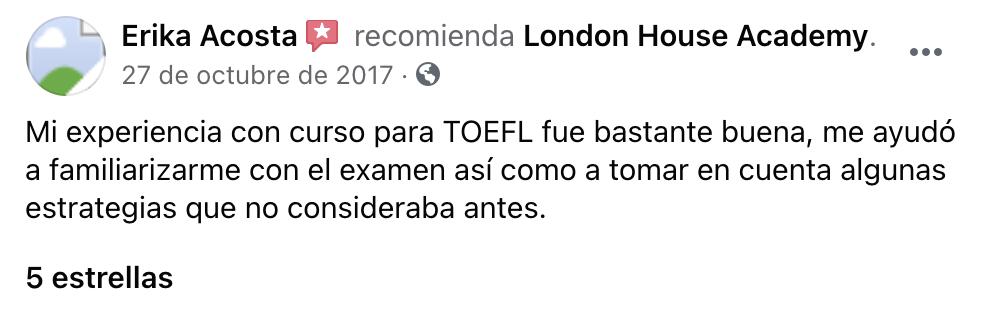 Testimonio Certificación TOEFL iBT